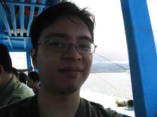 Boracay - me on a boat