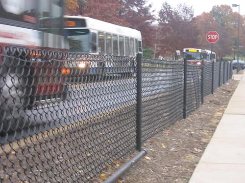 Campus Drive fences