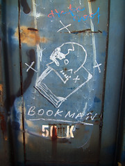 BOOKMAN (TRUE 2 DEATH) Tags: california railroad streetart train graffiti reader tag graf books railcar herman bones boxcar railways hobo railfan freight readmore booker freighttrain bookman moniker hoodrich hobotag hobomoniker benching freighttraingraffiti