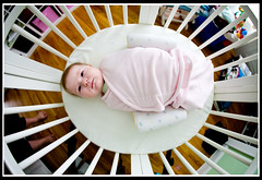 Waking up (fensterbme) Tags: baby interestingness infant personal daughter ella fisheye 5d stokke fensterbme primelens interestingness149 i500 canonfisheye canon15mmf28 canon15mmf28fisheye explore10dec07 ellaviolet curvilinearlens stokkeusa