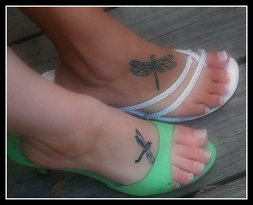 feet. tattoo. wedding