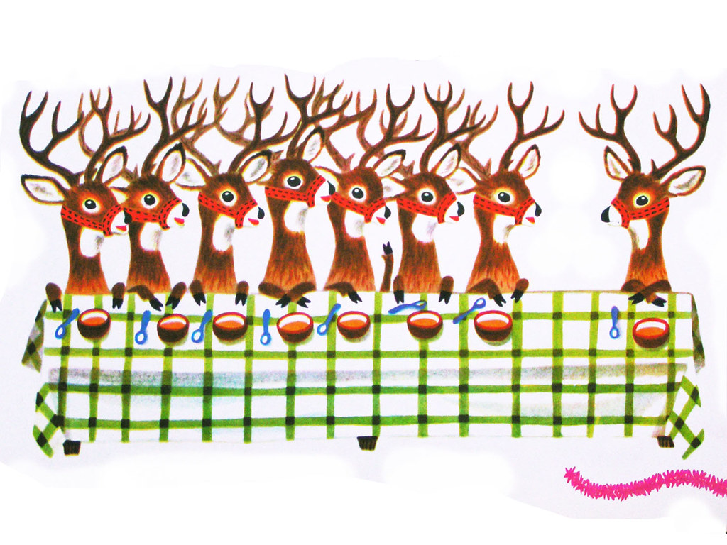 reindeers - from the Animals' Merry Christmas by pipnstuff, on Flickr