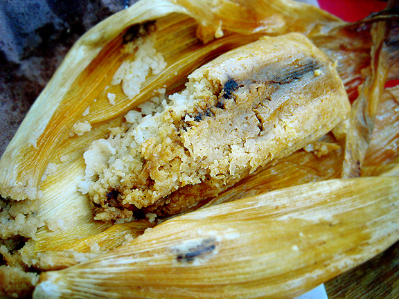 Tamale Mole with Chicken