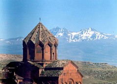 Vahramaberd Monastery and Mount Aragats from Gyumri,Armenia / (Alexanyan) Tags: from city winter mountain snow church cross cathedral mount holy monastery armenia second orthodox largest armenian aragats gyumri caucasia 5photosaday hayastan anawesomeshot hayasdan vahramaberd