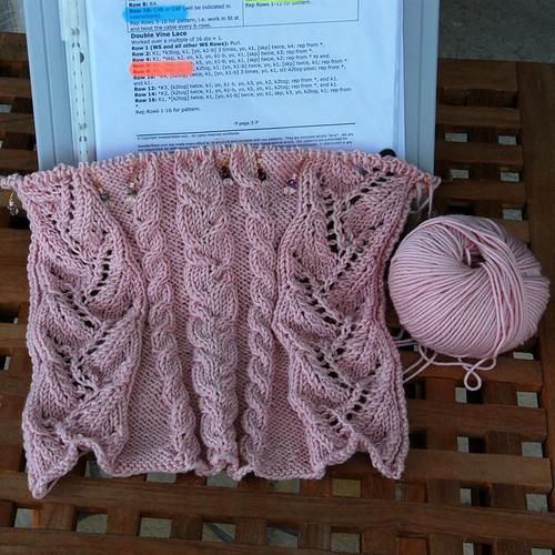 Cables & Lace Kimono Wrap Cardigan