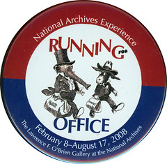 Running for office button
