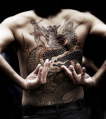 mythical monster - irezumi (ajpscs) Tags: street man japan tattoo japanese tokyo back hands nikon dragon bodylanguage twist dancer harajuku rockroll  streetperformer nippon  monsters presence creatures bodyart legend powerful mythology beasts  irezumi  streetdance  horimono ajpscs mythicalmonster surrealbeauty rockabillymusicandstyle harajukurockabilly powerthattheywanttoexpress