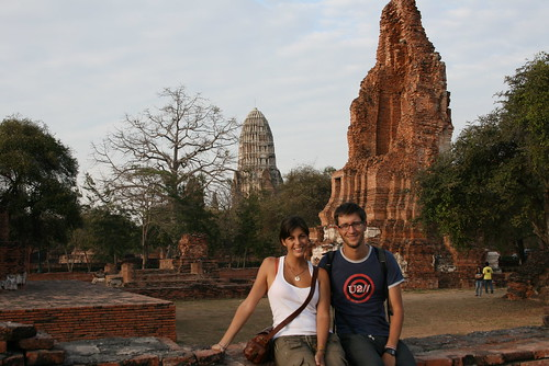en el parque historico de ayutthaya