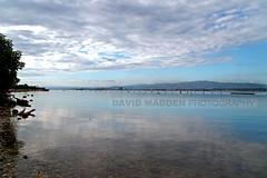 Gunboat Beach Jamaica (DavidMadden) Tags: sea sky reflection clouds harbor calm jamaica tropical layers caribbean reflextion palisadoes scenice gunboatbeach bucaneerbeachjamaica gunboatbeachjamaica