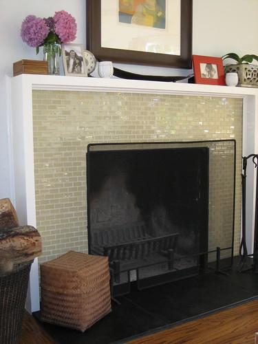Hexagon Tile Fireplace Surround
