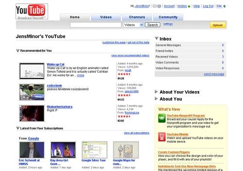YouTube-Startseite