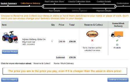 Halfords checkout