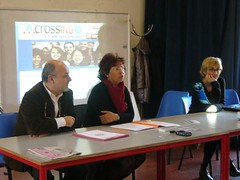 foto conferenza stampa crossing tv