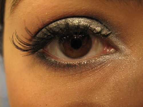 Silver gunmetal black eyeshadow eyelash makeup pictures gallery