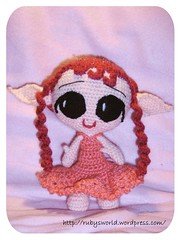 Lili Rose (Ruby's World) Tags: rose berry crochet elfe amigurumi lili goblinfly