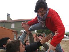 Supervivientes en Cantalpino. Amaya volando