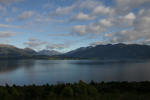Pre-noon cycling along beautiful Lake Te Anau...