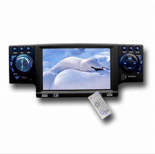 Big Screen Car DVD Player 1 Din - Removable Front Panel