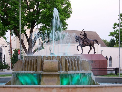Water fountain & Juan Seguin