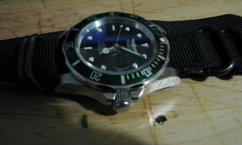Invicta 8926 with New Green Bezel