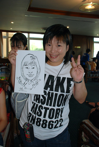 Caricature live sketching Temasek Fun Day 2