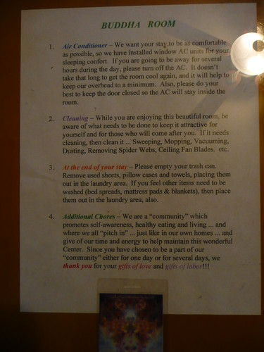 budda room rules
