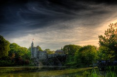Belvedere Castle and Turtle Pond (Craig S) Tags: canvas turtlepond belvederecastle