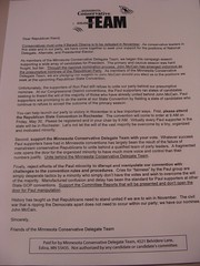 Minnesota Letter to Republicans