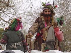 Afghan shaman (MastaBaba) Tags: travel blue afghanistan mosque shaman kabul mazar 20050320 mazaresharif