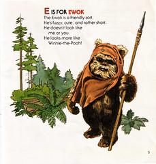 Star Wars Adventures In ABC: E is for Ewok (sciencensorcery) Tags: kids starwars books 80s 1984 childrens eighties wicket ewoks