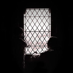 Touching the light (Sator Arepo) Tags: leica light castle window backlight dark 50mm reflex darkness diamond carcassonne 25mm rhombus digilux cite digilux3 lorenzosoil retofz080930