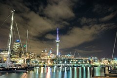 Auckland by Night. So Great (Liam_Cunningham_) Tags: auckland nz newzealand photography longexposure night fujifilm cityscape city outdoors skytower reflections hdr