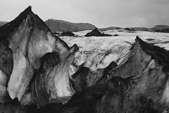 "desolate landscape (davidgarciadorado) Tags: ""ithinkthisisart"" blackandwhite iceland glacier ice ngc"