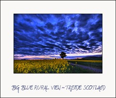 Big Blue Rural View - Tayside Scotland (Magdalen Green Photography) Tags: blue yellow landscape cool vibrant scottish tayside hdr dsc8