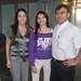 Claudia Alvarado, Facultad Ingeniería y Tecnología, junta a Paula Aravena  706 PSU  100% Beca Ingeniería Civil y su Padre.