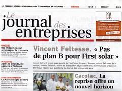 Le journal des entreprises mai 2011