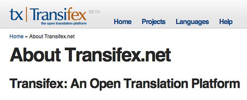 Transifex Web Page