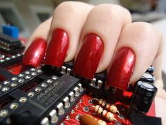 #orgulhonerd (Aline K.B.) Tags: nerd vermelho cabaret paixão risque eletrônica unha esmalte extase diadatoalha orgulhonerd