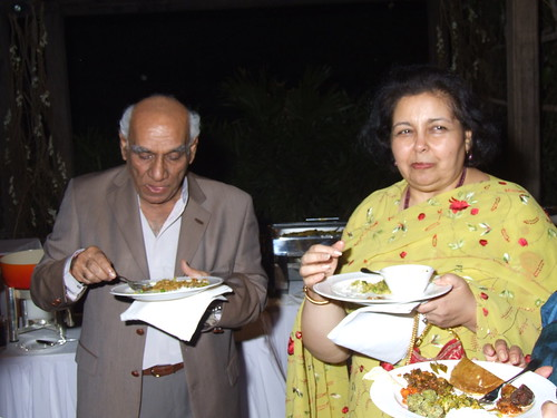 Pam & Yash Chopra enjoy the South Indian meal