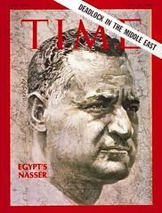 Presidnet Nasser on the cover of the time for the fifth time (Kodak Agfa) Tags: people history media egypt cover magazines timemagazine egyptians coverboy