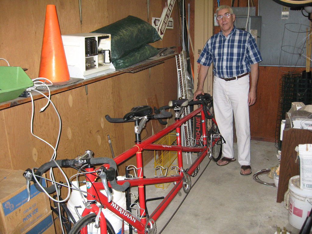 Ray with his custom-built three seater, 2,500 miles on it