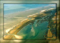 1260 From the Air (-salzherz-) Tags: beach germany northsea picnik smrgsbord stpeterording rolleiflexsl35e golddragon tidalcreeks salzherz