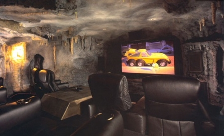 Batcave themed home theater
