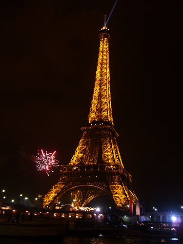 Eiffel Tower (Paris, France) at New Year's Eve 2007/08