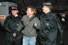You are nicked my old son! (swatman67) Tags: protest police custody protesting pinched arrested arrest prisoner restraint protestor nicked wristlock