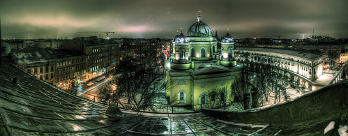 Transfiguration Cathedral in evening