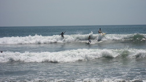 Surfing at Kuta Beach