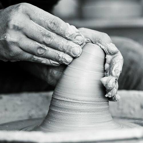 hands of worker