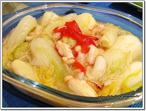 台北福華江南春08年菜 干貝蟹肉燴芽白