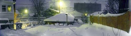 Backyard Winter Panorama